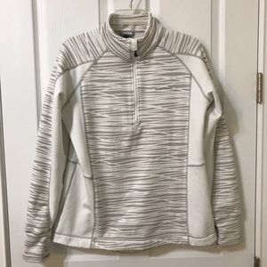 Avalanche Woman's White Half Zip Pullover Jacket